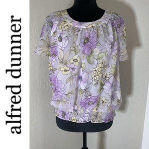 3/$25 Alfred Dunner Purple Floral Blouse
